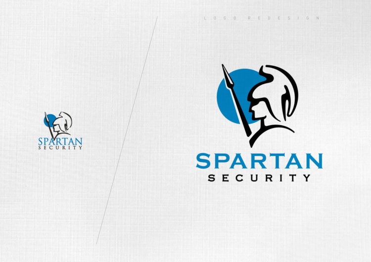 spartan security logo redesign