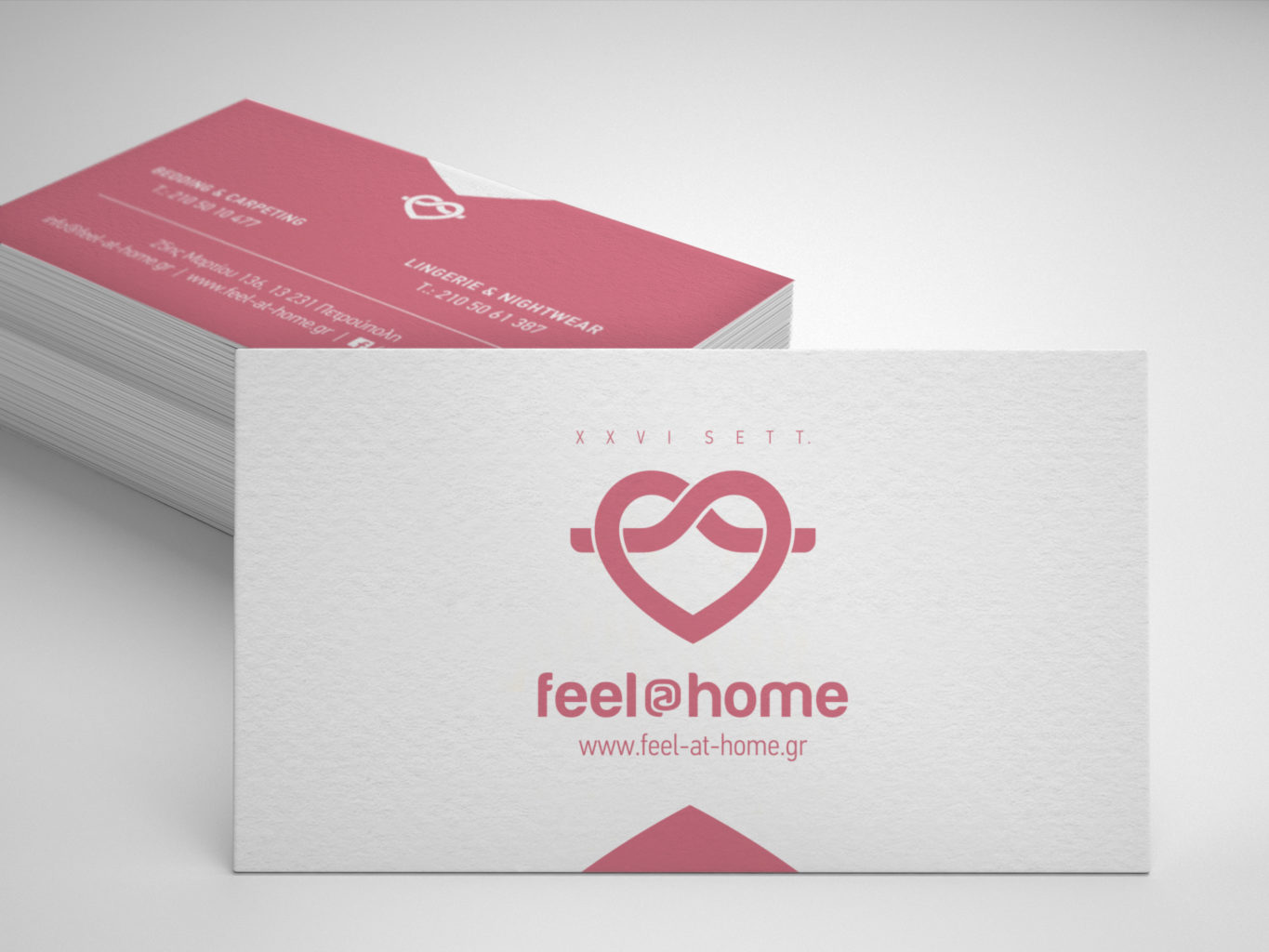 Feel at home lingerie and nightwear business cards
