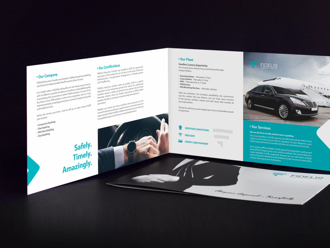 Fidelis Executive Transfers advertising brochure