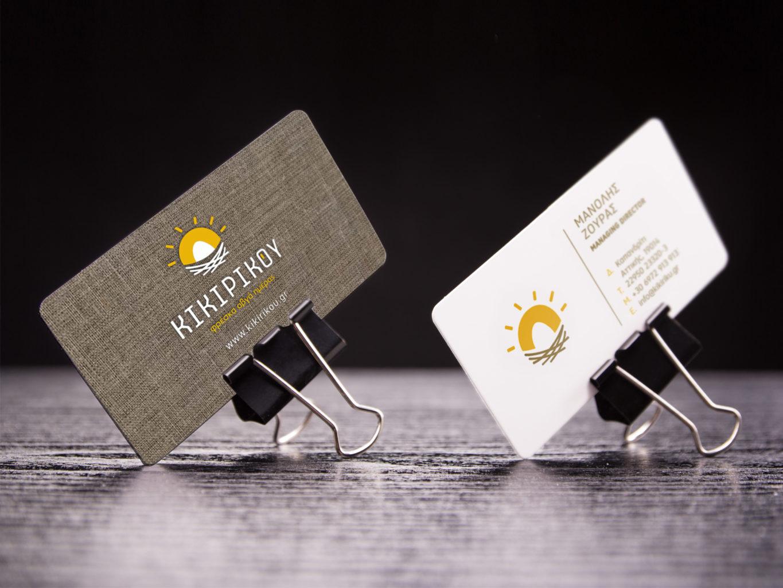 kikirikou fresh eggs business cards