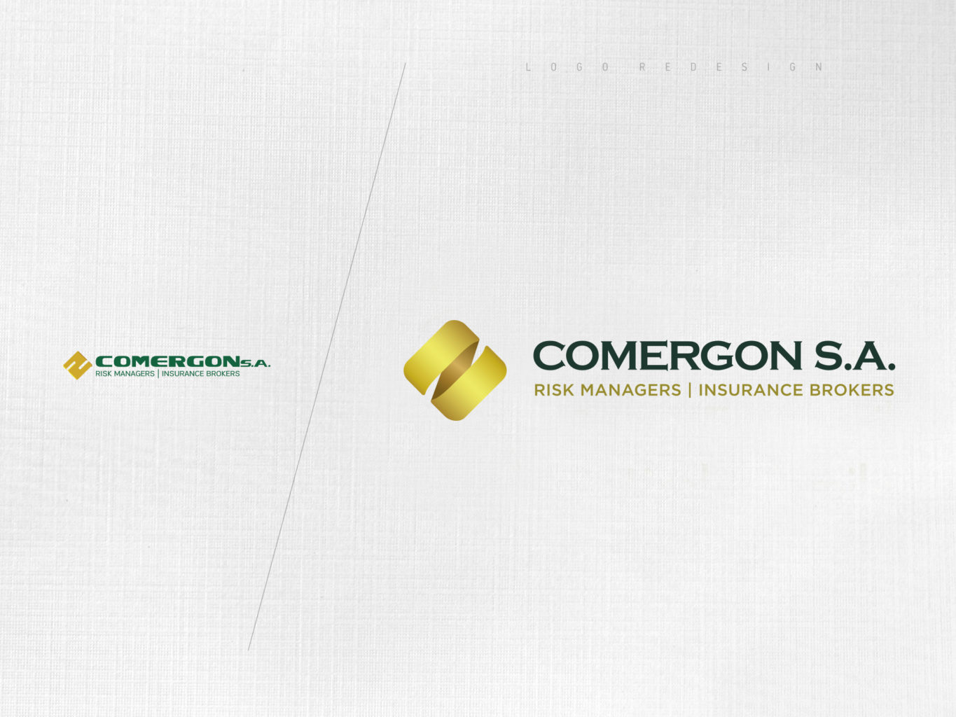 Comergon Risk Managers logo redesign by fiftyeggz