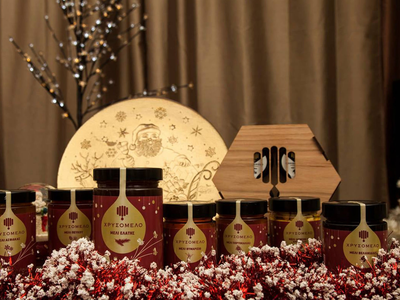 Chrisomelo honey packaging for christmas