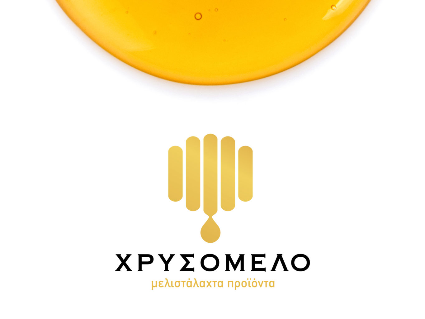 Chrisomelo honey logo design