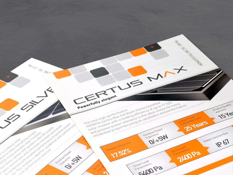 Aventia Solar brochures