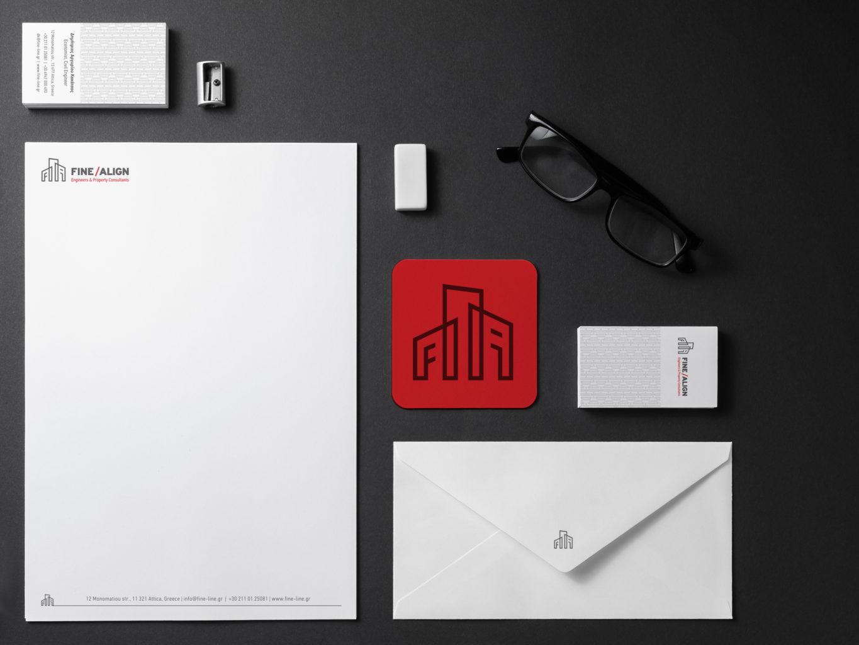 FINE / ALIGN Engineers & Law Consultants Brand identity