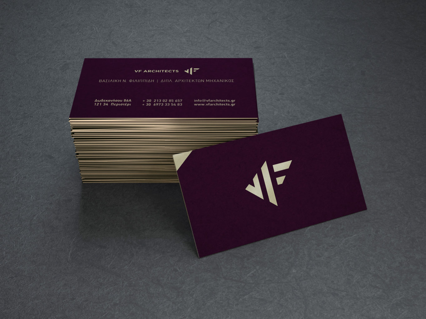 VF Architects business cards