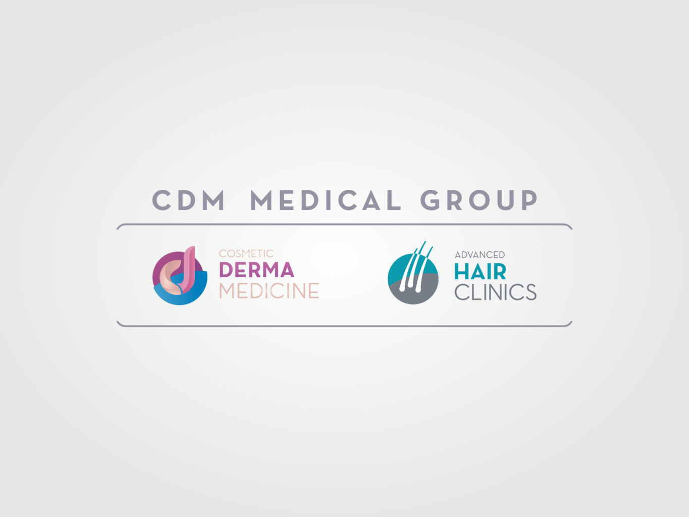 advanced derma medicine and advanced hair clinics logos for cdm medical group by fiftyeggz