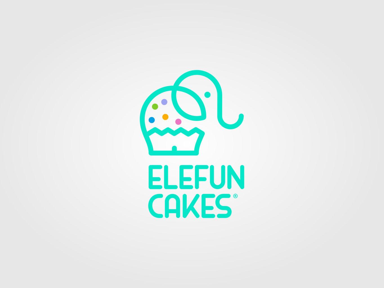 elefun cakes logo by fiftyeggz