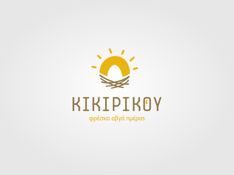 kikirikou fresh eggs logo by fiftyeggz