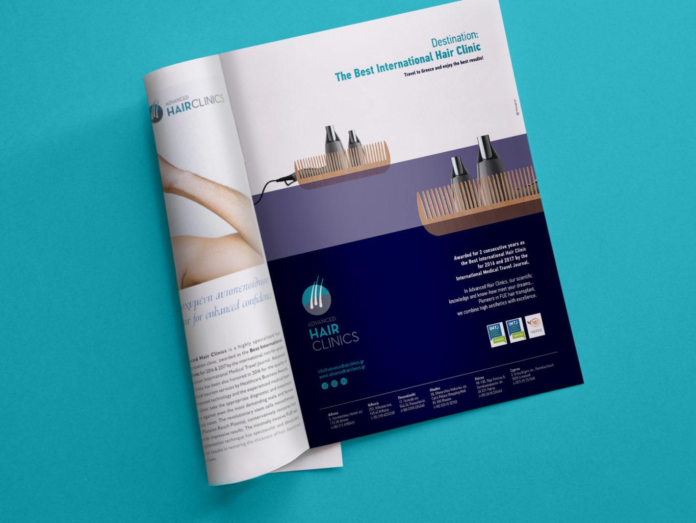 Advanced Hair Clinics magazine ad