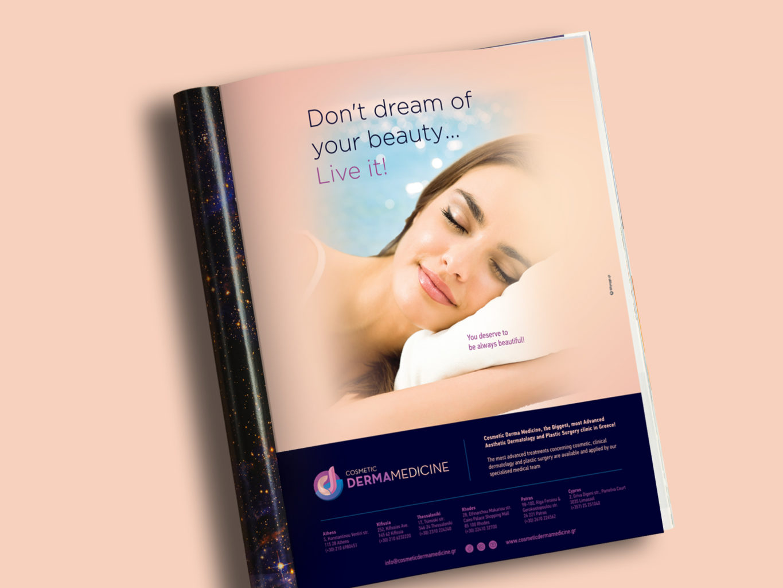 Cosmetic Derma Medicine magazine ad